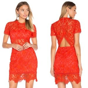 Lovers + Friends | Mon Amour Red Lace Dress